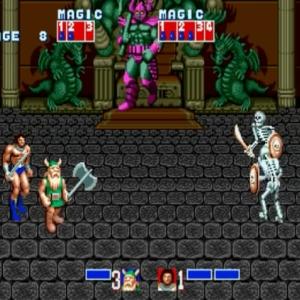 Golden axe death Bringer boss battle Gilius Thunderhead ax Battler golden axe Sega genesis Sega mega drive