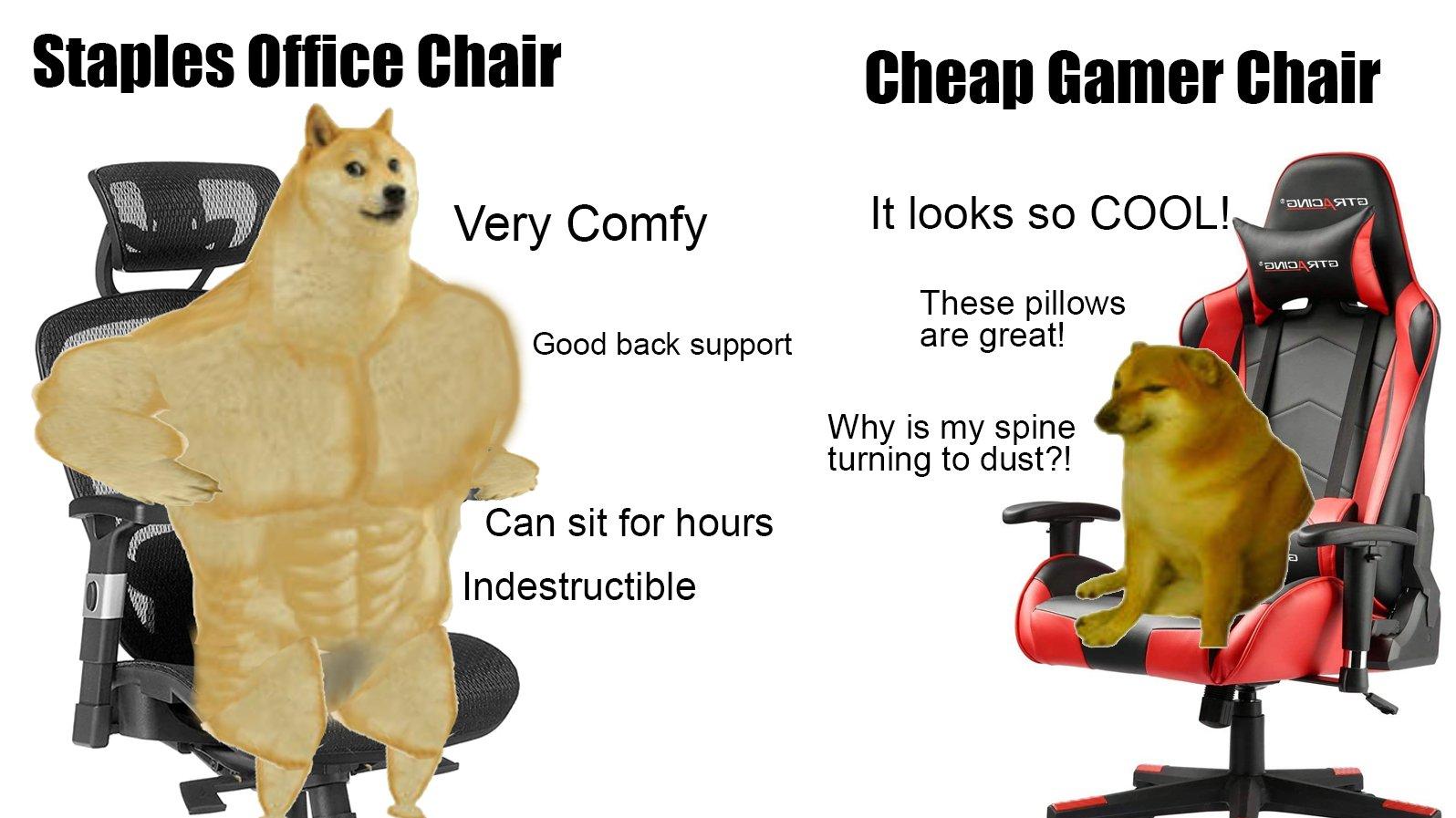 Memes Gamer chair