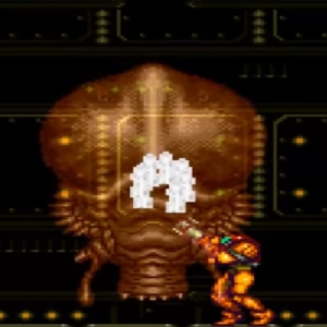 Super Metroid Phantoon boss VS Samus aran snes super Nintendo