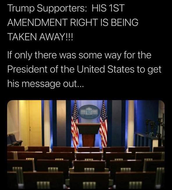 Memes Donald Trump first amendment