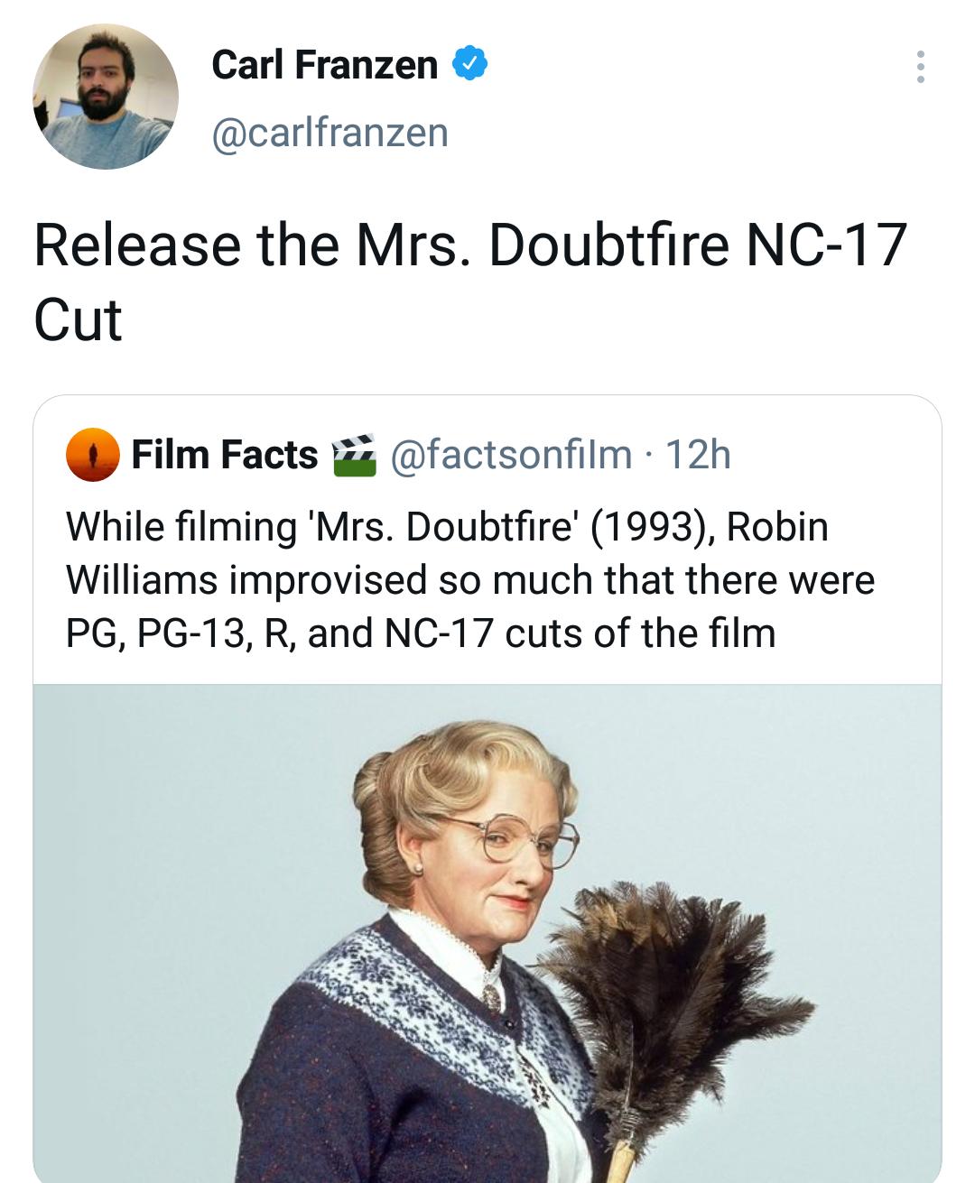 Memes Robin Williams Mrs. Doubtfire
