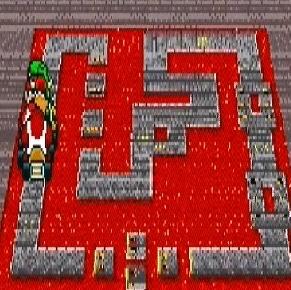 Bowser Castle 2 super Mario Kart snes Nintendo