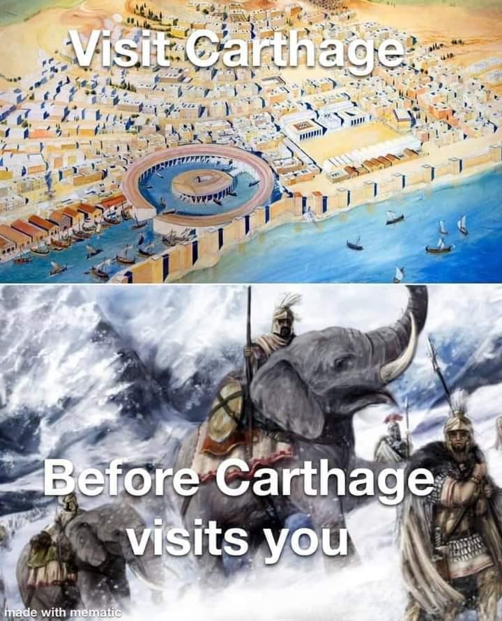 Memes carthage Empire Hannibal elephants the alps