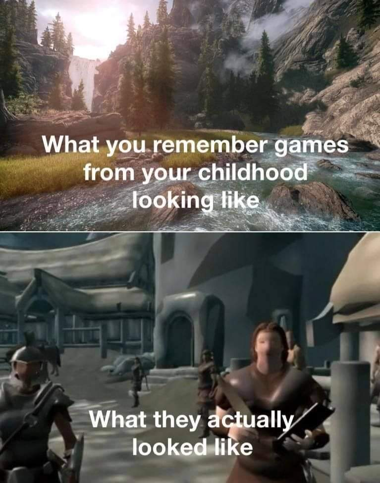 Memes Video game graphics that aged horribly