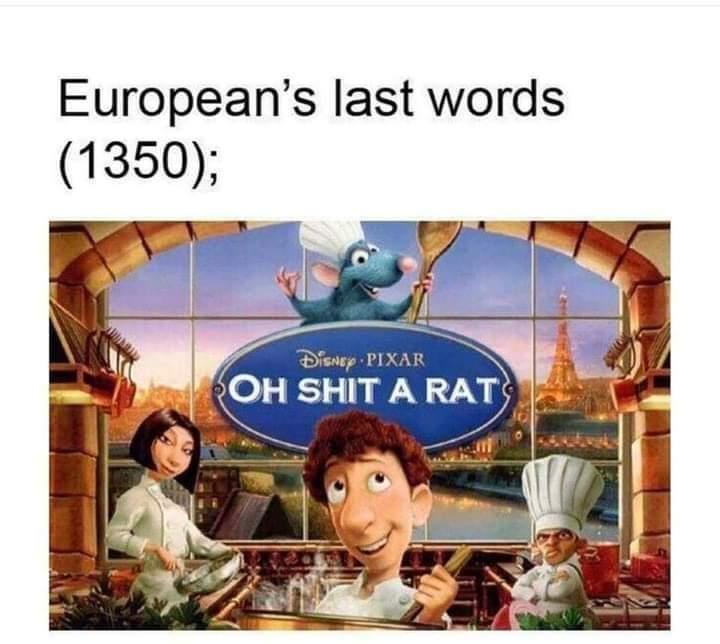 Memes Ratatouille black plague