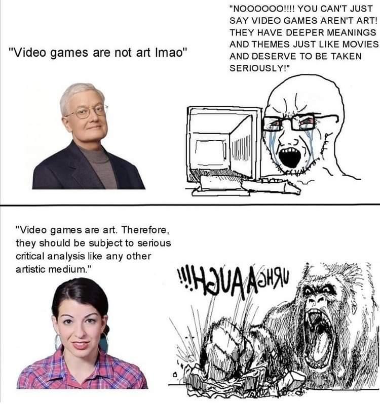 Memes Roger Ebert video games are not art
