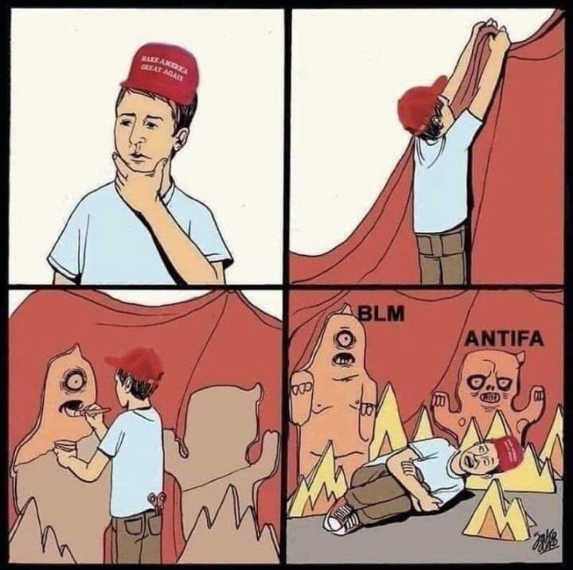 Memes Donald Trump supporters BLM antifa