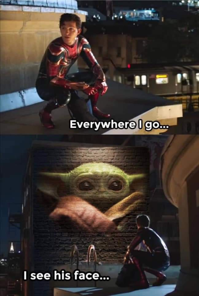 Memes Spiderman Peter Parker baby Yoda