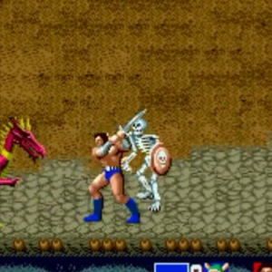 Ax Battler using steel sword golden axe Sega genesis arcade Sega mega drive