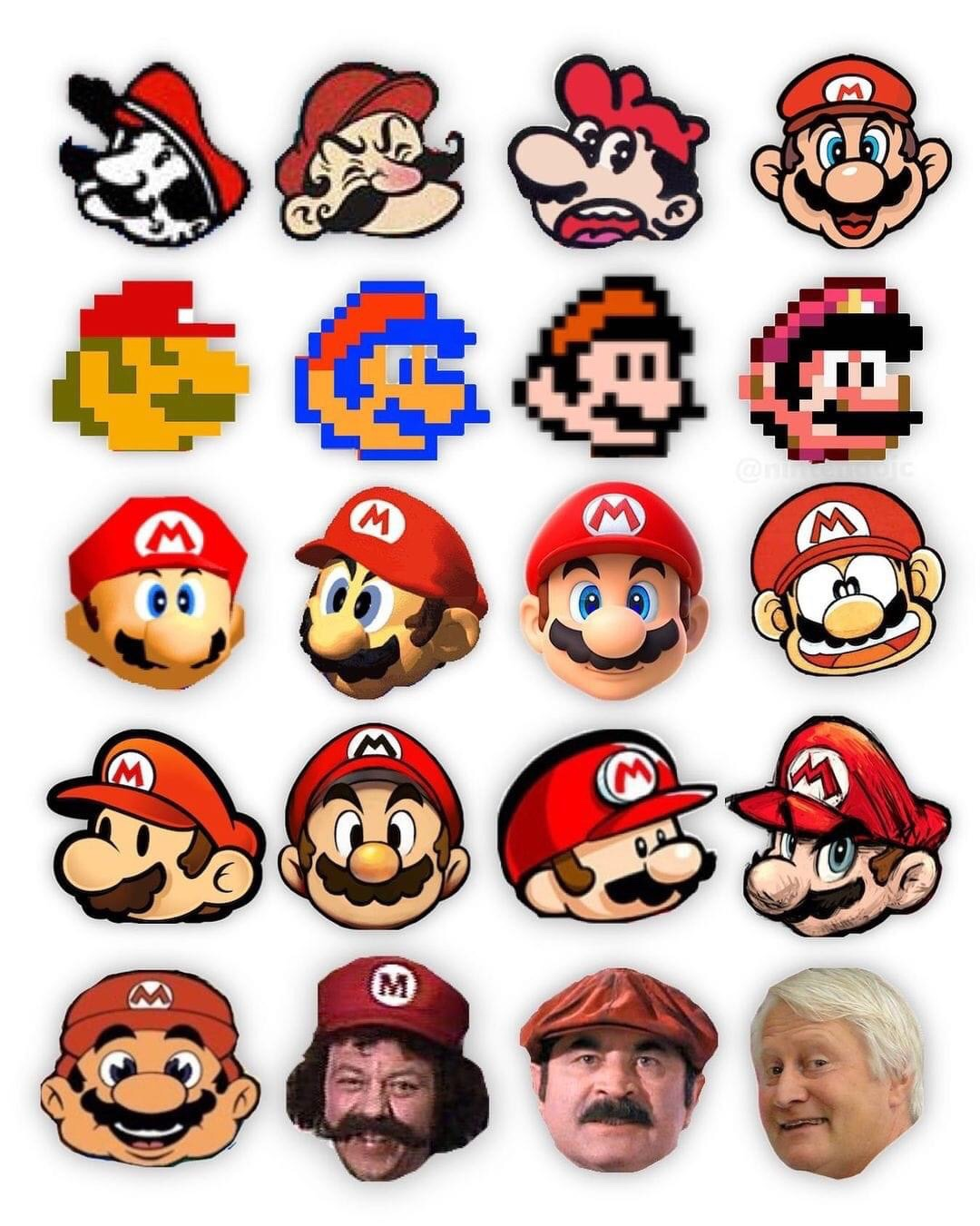 Memes The many faces of super Mario Charles Martinet