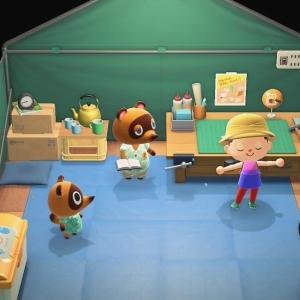 Animal crossing new Horizons Tom nook tent craft making Nintendo Switch