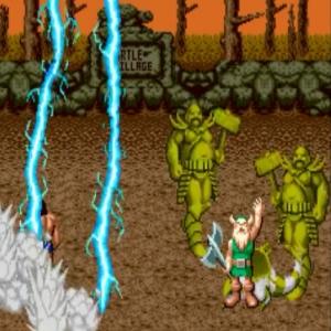 Gilius Thunderhead lightning special power Golden axe Sega genesis arcade Sega mega drive
