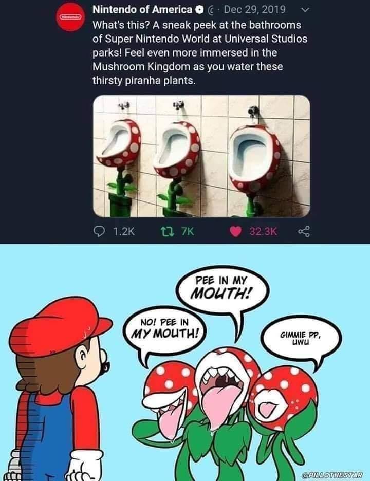 Memes Mario piranha plant