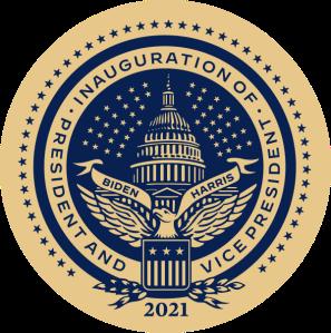 Inauguration seal of Joe Biden and kamala Harris