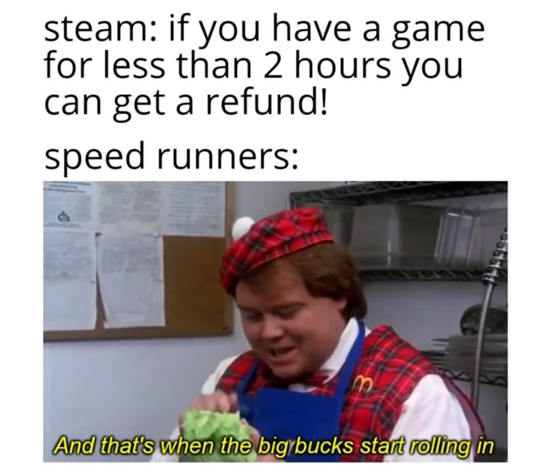 Memes Video game speed runners