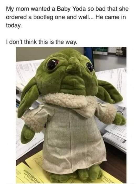 Memes Baby Yoda from wish