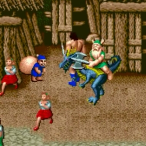 Gilius Thunderhead and blue Thief golden axe Sega genesis