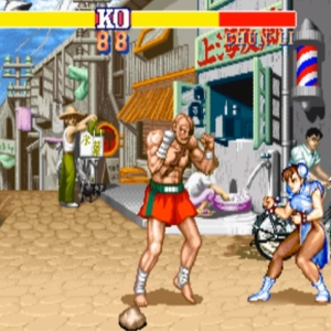 Sagat VS chunli street fighter II snes arcade Capcom
