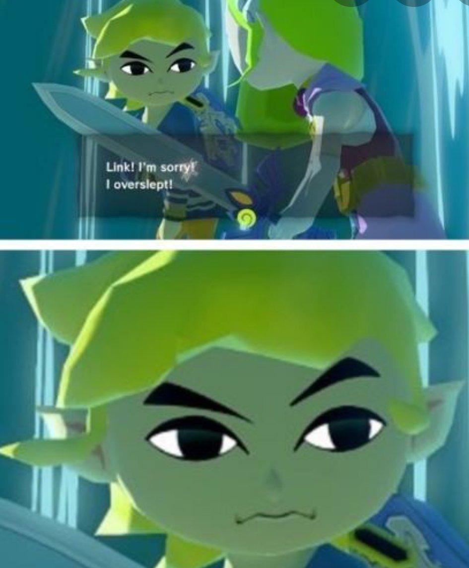 Memes The legend of Zelda the wind Waker princess Zelda overslept