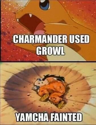 Memes Dragon ball Z yamcha Versus Charmander Pokémon