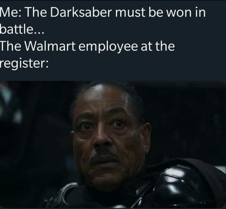 Memes Star Wars the dark saber must be won in battle