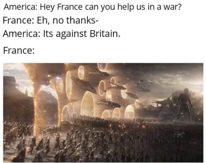 Memes American revolution France versus England