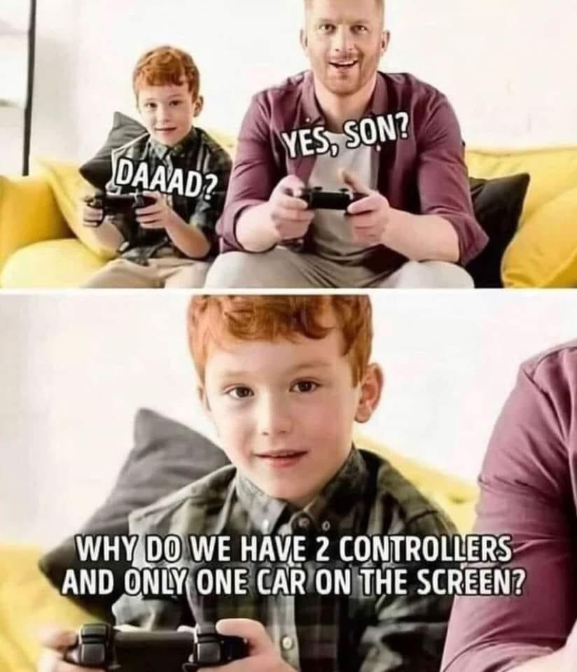 Memes Playing video games with your son