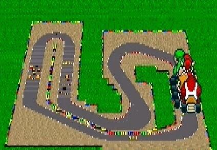 Mario Circuit 3 super Mario Kart snes Nintendo