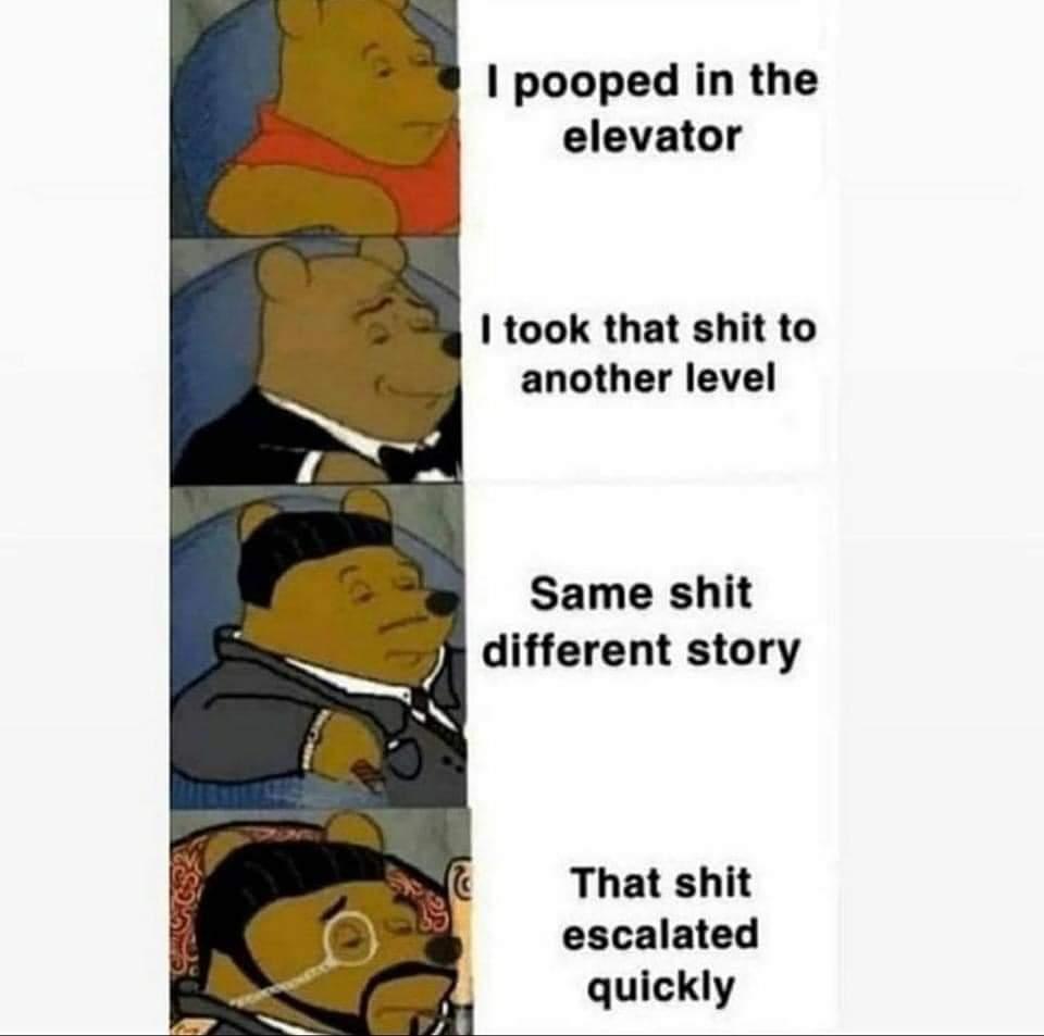 Memes Pooping in an elevator