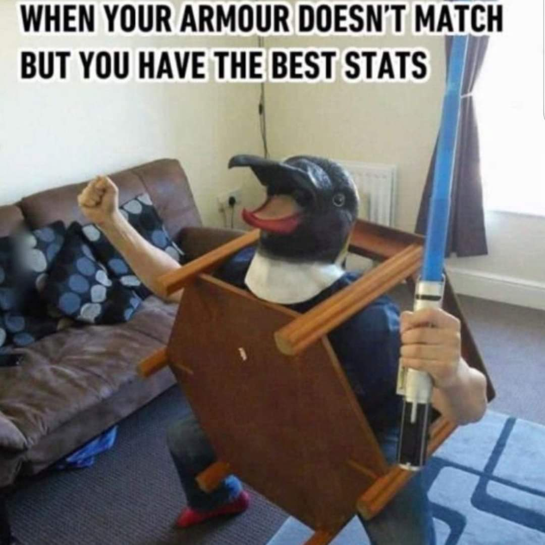 Memes Video game meme armor that doesn't match