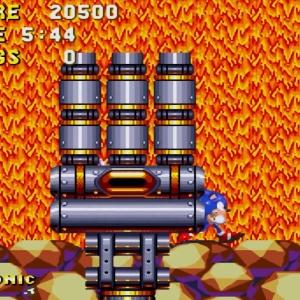 sonic & Knuckles Heat Arms boss battle Sega Genesis Sega Mega drive