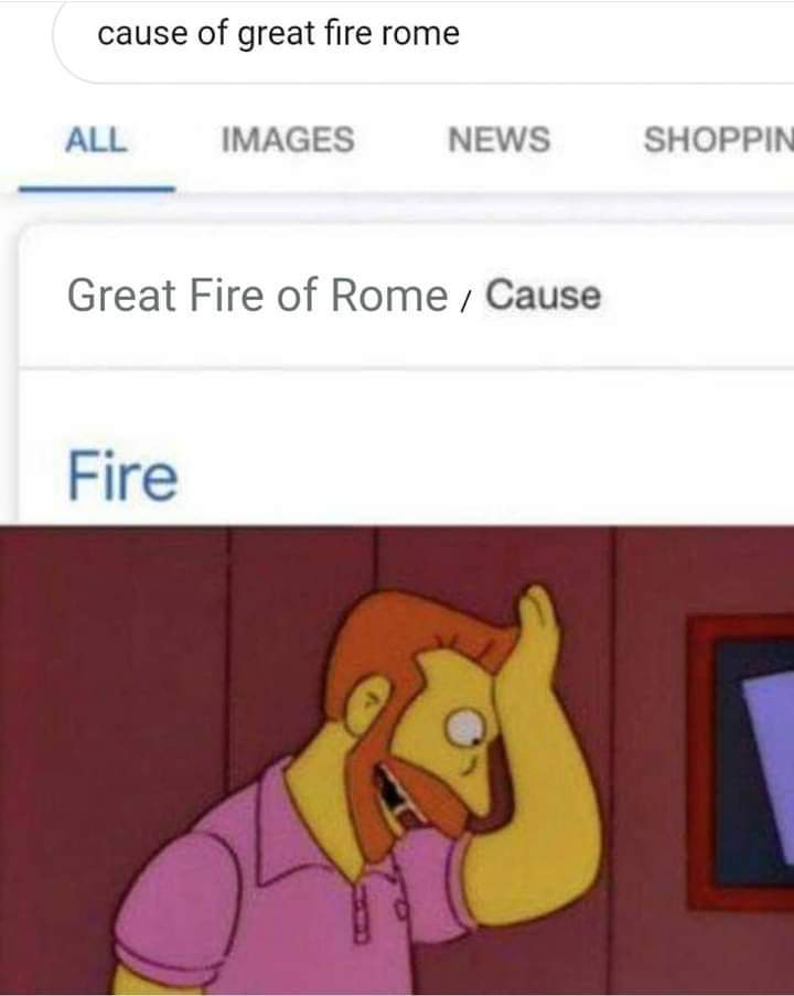 Memes what caused the Great Fire of Rome