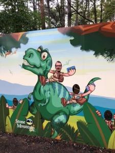 Riding a dinosaur stone mountain park Georgia