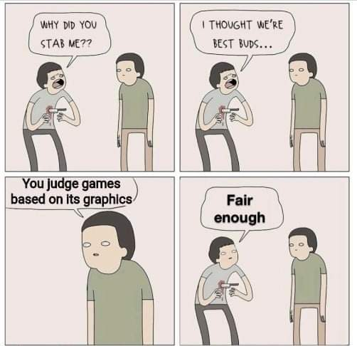 Memes Judging video game is based on graphics
