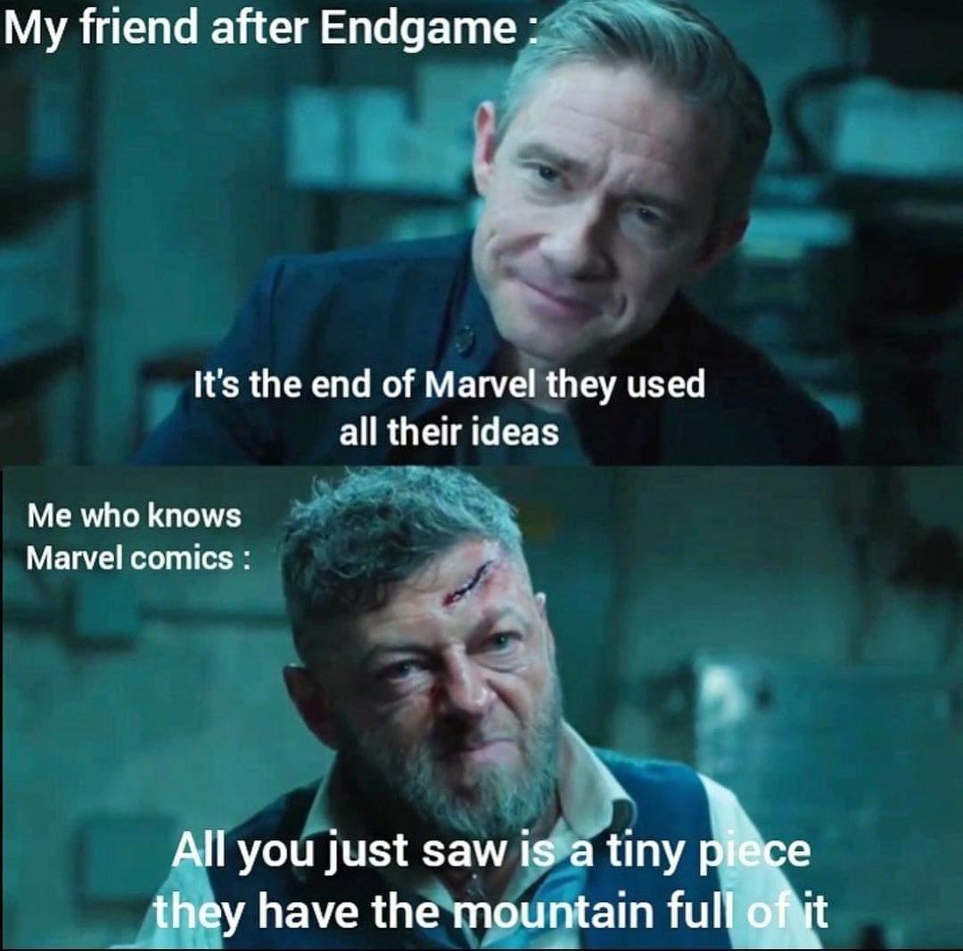 Memes Marvel endgame ideas