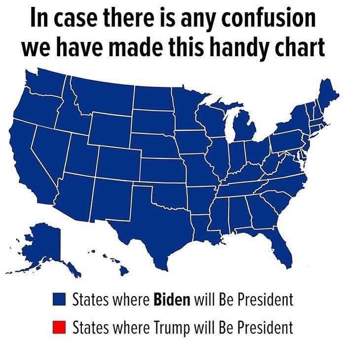 Memes Map Joe Biden will be president