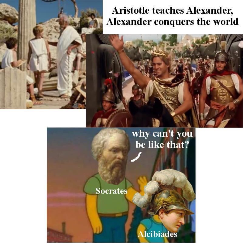 Memes Alexander the great and Aristotle