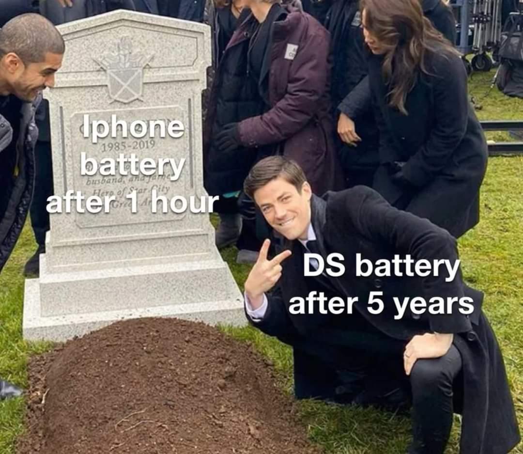 Memes Nintendo DS battery life