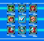 Mega man 2 boss chart nes Capcom
