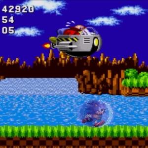 Egg Mobile-H boss battle sonic the Hedgehog 1 Sega genesis Sega mega drive