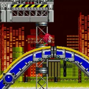 Knuckles the echidna running Sonic the Hedgehog 2 Sega genesis Sega mega drive