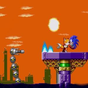 Submarine Eggman II Boss fight Sonic the Hedgehog 2 Sega genesis Sega mega drive