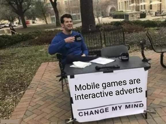 Memes Mobile games on phone