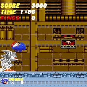 Sonic vs Mecha Sonic Sonic the Hedgehog 2 Sega genesis Sega mega drive