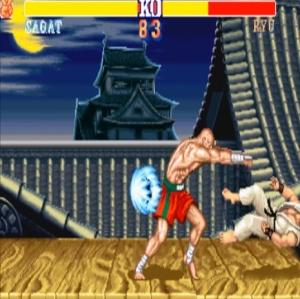 Sagat VS Ryu street fighter II snes arcade Capcom