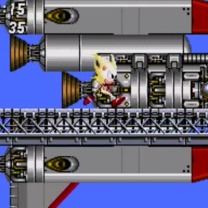 Super sonic running Sonic the Hedgehog 2 Sega genesis Sega mega drive