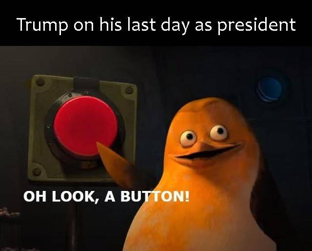 Memes Donald Trump last day as president