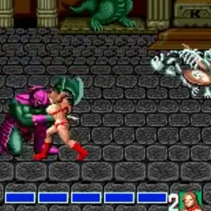 Death Bringer vs Tyris Flare golden axe Sega genesis Sega mega drive