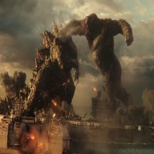 King Kong punches godzilla Godzilla vs. Kong Warner Brothers