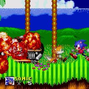 Drill Eggman defeated Sonic the Hedgehog 2 Sega genesis Sega mega drive